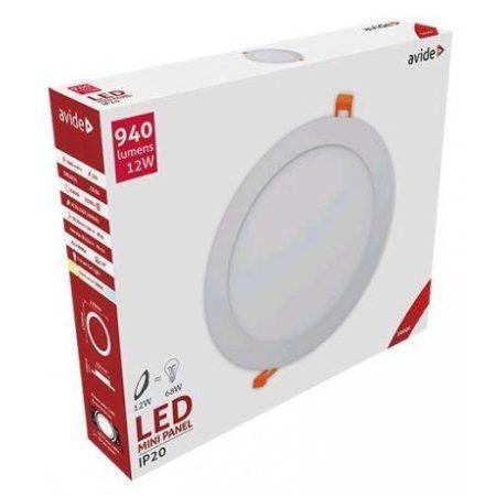 ALU LED vgradni panel okrogli 12W toplo beli 3000K