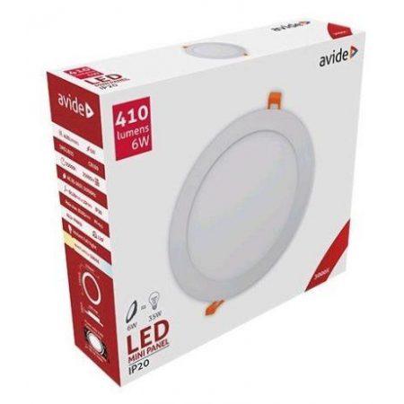 ALU LED vgradni panel okrogli 6W toplo bela 3000K