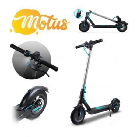 Električni skiro Motus Scooty 8.5 z velikimi kolesi, LCD LED zaslonom, tempomatom in disk zavoro 36V 7800 mAh do 25km/h črn