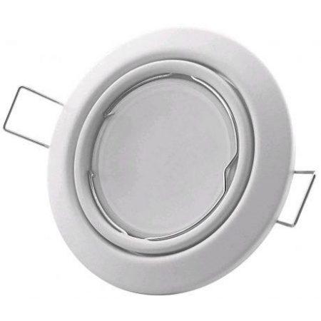 10x GU10 ALU okovje z nastavljivim kotom + grlo, belo