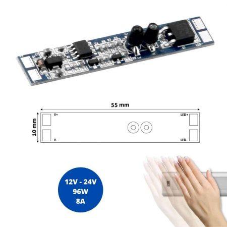 IR senzor kratkega dosega za LED profil 12-24V 8A 96W