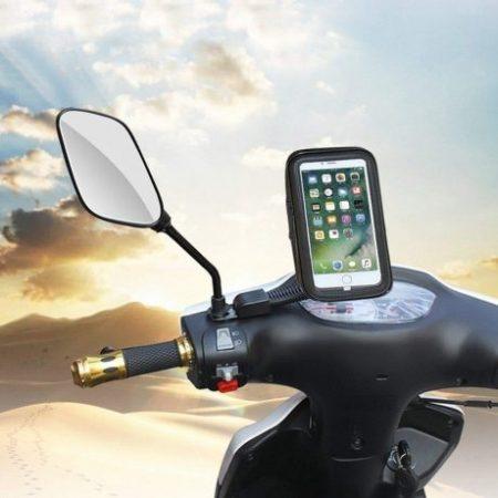 Vodoodporni nosilec za telefon ali navigacijo za motorno za kolo ali skuter (4.8 - 5.5)