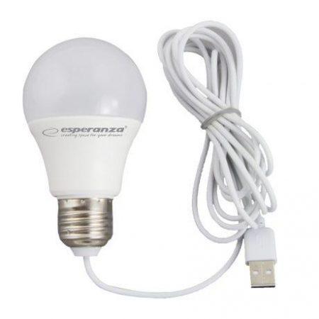 USB LED žarnica - sijalka 5W toplo bela