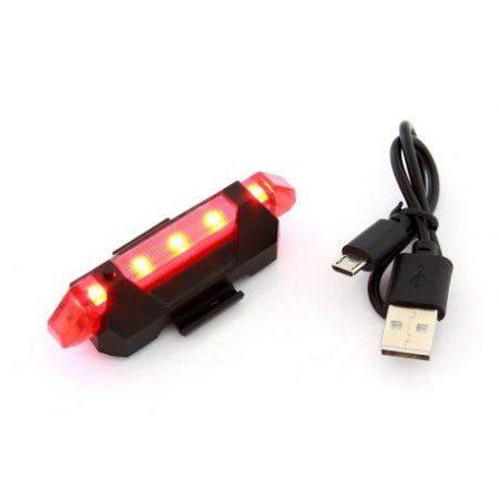 Zadnja USB LED lučka za kolo akumulatorska rdeča