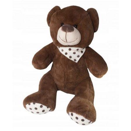 Medved plišasti z rutko 47cm rjavi