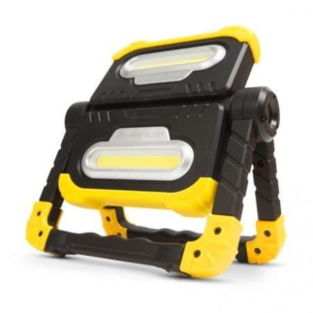 Multifuknkcijski 360° LED delovni reflektor 2x10W COB 2000lm 8000mAh z powerbnk funkcijo
