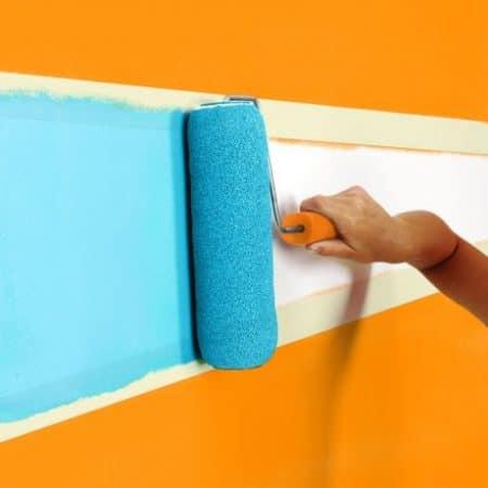 Pleskarski trak z lepilom na vodni osnovi 50 m x 24 mm bel