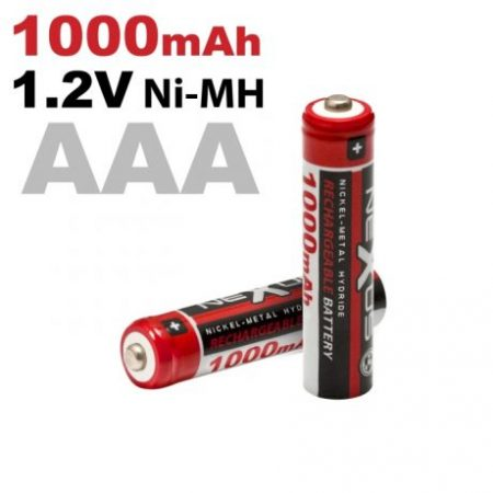 Baterije za ponovno polnjenje AAA HR03 Ni-MH 1000 mAh 2 kosa