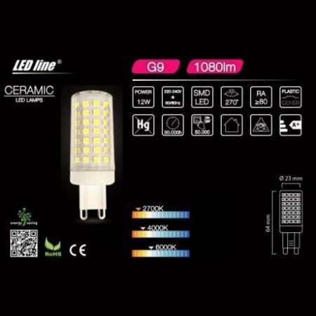 LED žarnica - sijalka G9 12W 230V nevtralno bela 4000K