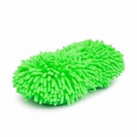 Obojestranska goba za pranje avta iz mikrovlaken zelena