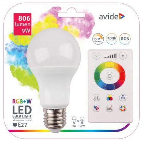 SMART LED sijalka E27 9W RGB+W 2700K z daljincem
