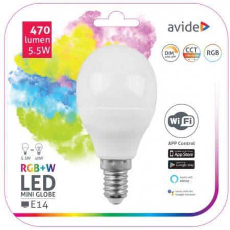 SMART LED sijalka E27 9W RGB+W WiFi APP