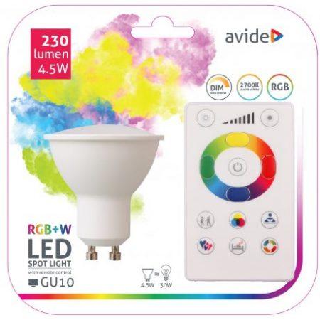 SMART LED sijalka GU10 4.5W RGB+W 2700K z daljincem