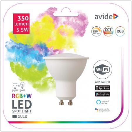 SMART LED sijalka GU10 5.5W RGB+W WiFi APP