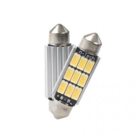 2x avto LED sijalka - žarnica C5W 41mm 3.2W 450lm 12V CANBUS OSRAM toplo bela 3000K