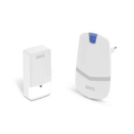 Digitalni brezžični zvonec KINETIC brez uporabe baterij beli