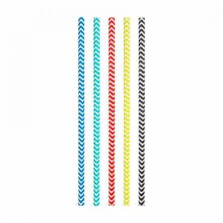 Papirnate EKO slamice - črtaste - 195 mm - 25 kosov / paket