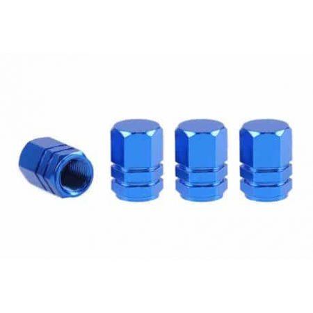 Aluminijasti pokrovčki ventilov pnevmatik modri 4 kos