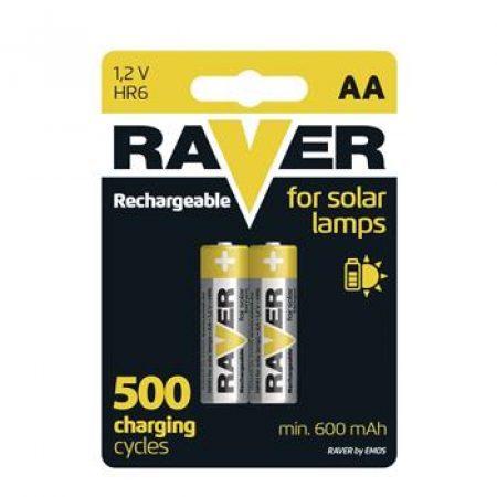 Rezervne baterije za solarne svetilke RAVER SOLAR AA 600mAh 2 kosa