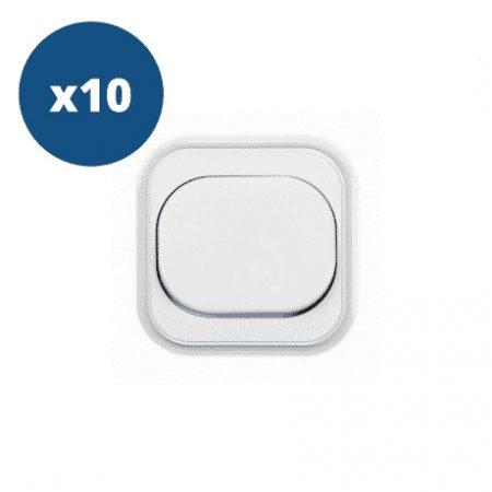 10x enojno stikalo vgradno belo 10A 250V