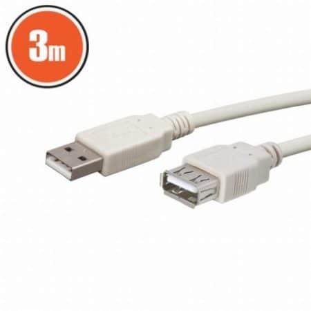 USB podaljšek 3m bel