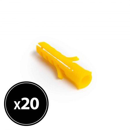 Zidni vložek - 8 x 40 mm - 20 kosov / paket