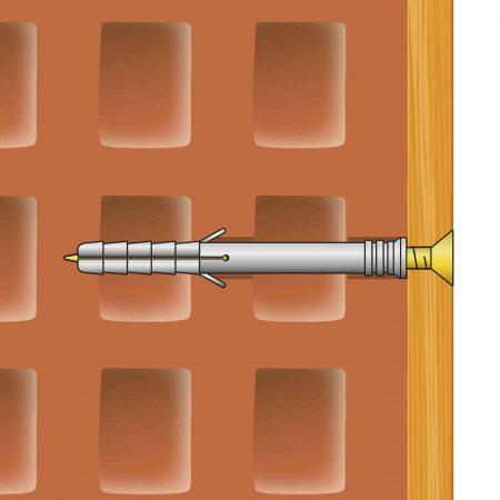 Zidni vložek + vijak - 6 x 40 mm - 16 kosov / paket