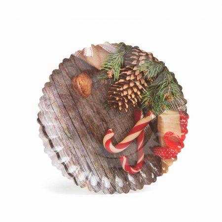 Božični papirnat pladenj - 23 cm - 3 vrste