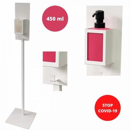 Higienska postaja za razkuževanje rok iz jekla  z dozirnikom 450 ml 110 cm