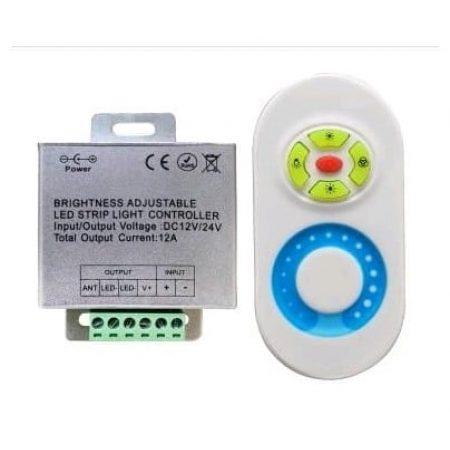 Kontroler za LED trak 12V 144W zatemnilni z daljincem na dotik 5 tipk