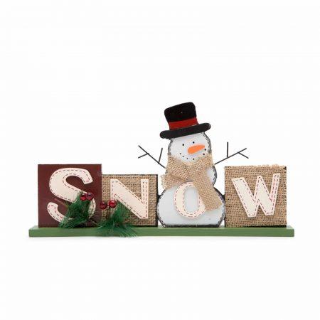 Lesena božična dekoracija snow 32 x 15.2 cm