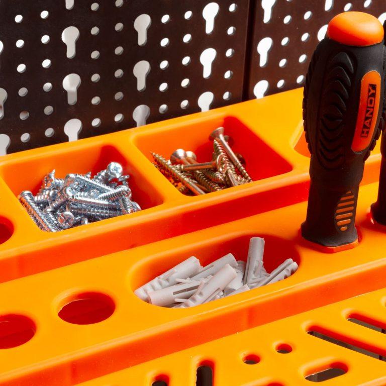 Stenski organizator orodja - 3 deske, 50 x 33 cm