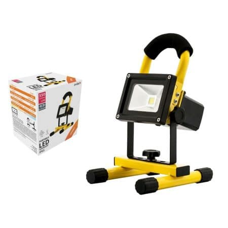 LED akumulatorski delovni reflektor s stojalom IP65 10W nevtralno bel 4000K