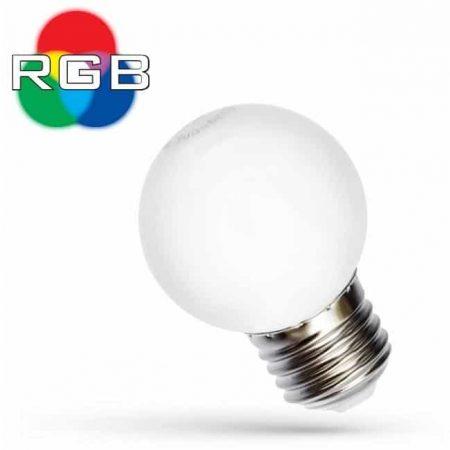 RGB LED žarnica - sijalka E27 1W mini