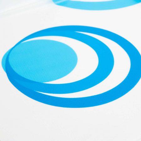 Tuš zavesa - modro  -beli vzorec - 183 x 183 cm