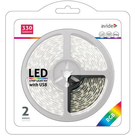 USB RGB LED trak s kontrolerjem 2m