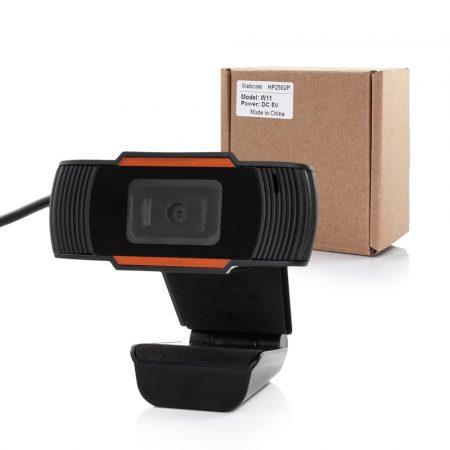 Spletna kamera z mikrofonom FULL HD 1920 X 1080 črno-oranžna