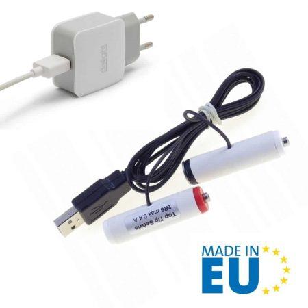 USB nadomestek baterij 2xAA R6 3V 500mA + USB napajalnik