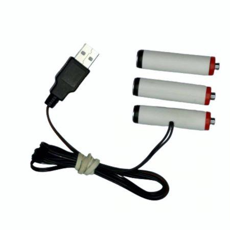 USB nadomestek baterij 3xAA R6 4,5V 500mA