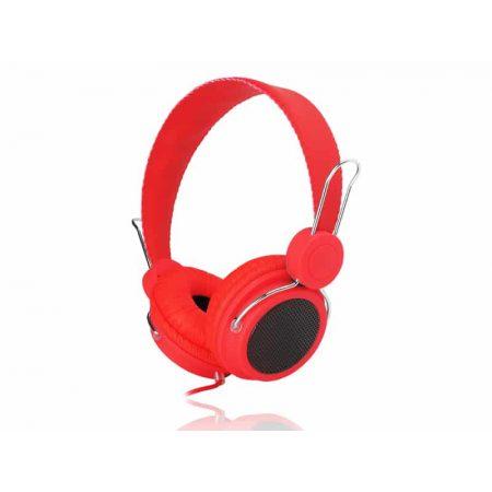 Slušalke naglavne rdeče