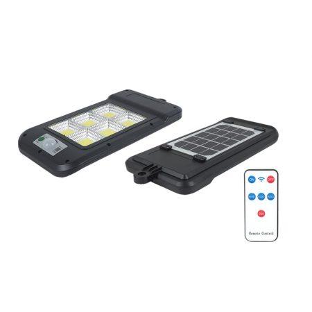 Solarna svetilka 6 x COB (150 x SMD LED) 6000 K s senzorjem gibanja in daljinskim upravljalnikom
