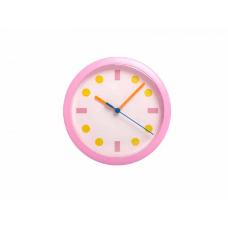 Stenska ura roza okrogle pike LUMIXA