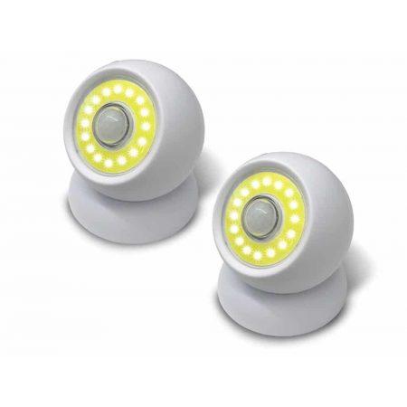 2x COB LED senzorska magnetna svetilka na baterije 200 lumnov bela