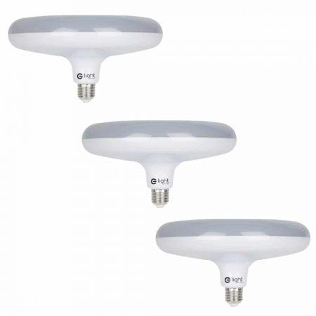 3x LED žarnica - sijalka E27 UFO 15W 1200 lm nevtralno bela 4000K
