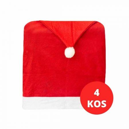 4x božična prevleka za stol božičkova kapa 48x63cm