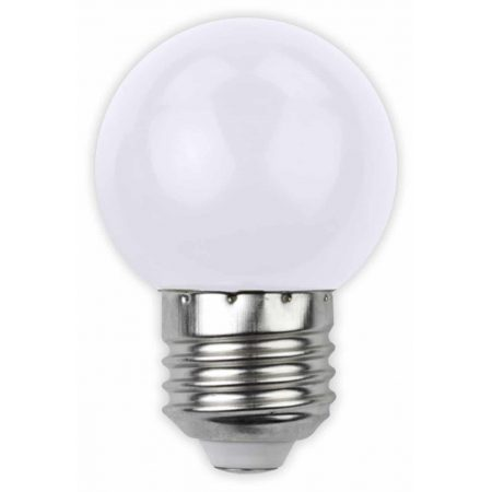 LED sijalka E27 G45 1W DECOR bela