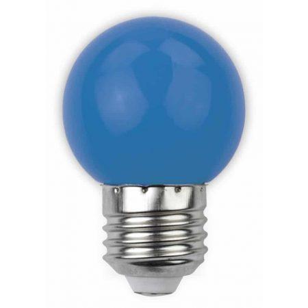 LED sijalka E27 G45 1W DECOR modra