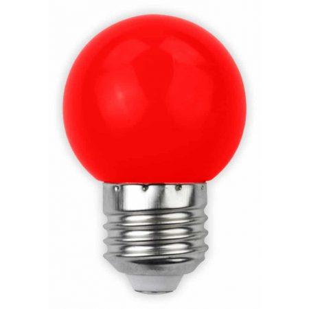 LED sijalka E27 G45 1W DECOR rdeča