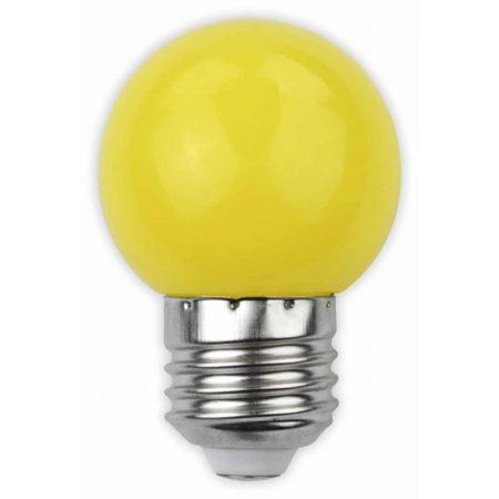 LED sijalka E27 G45 1W DECOR rumena