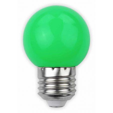 LED sijalka E27 G45 1W DECOR zelena